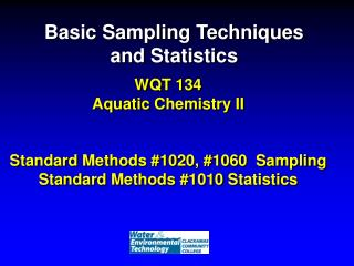 Basic Sampling Techniques and Statistics