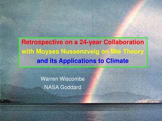 Warren Wiscombe NASA Goddard
