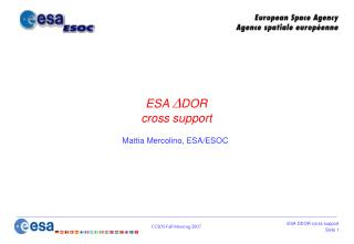 ESA   DOR  cross support