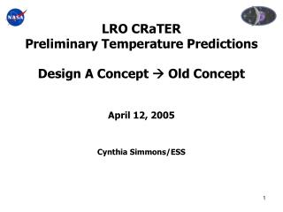 Latest LRO Geometry Model Design A Concept