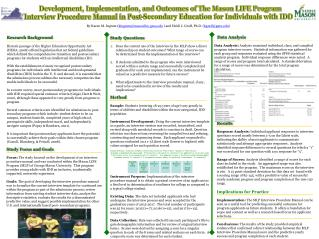 Development, Implementation, and Outcomes of The Mason LIFE Program