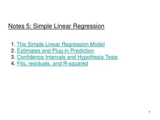 Notes 5: Simple Linear Regression