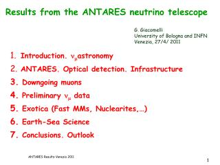 Results  from the ANTARES neutrino  telescope