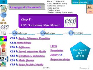 "Chap V -  CSS ""Cascading Style Sheets"""