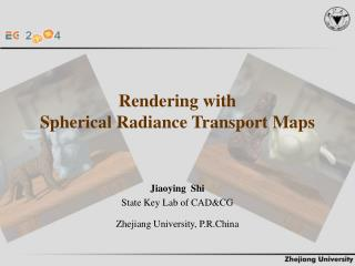 Rendering with  Spherical Radiance Transport Maps