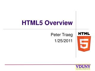 HTML5 Overview
