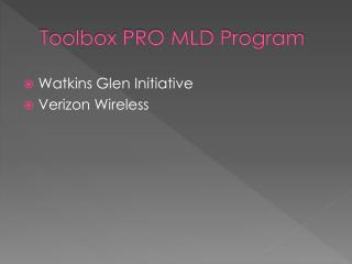 Toolbox PRO MLD Program