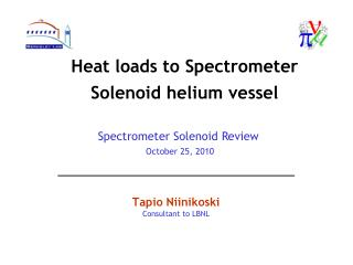 Heat loads to Spectrometer Solenoid helium vessel