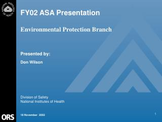 FY02 ASA Presentation  Environmental Protection Branch
