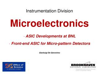 Instrumentation Division Microelectronics