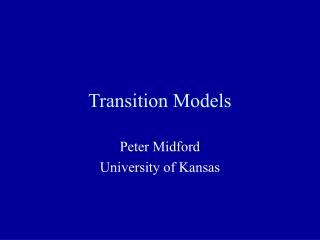 Transition Models