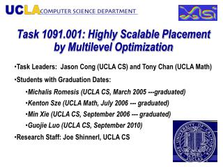 Task 1091.001: Highly Scalable Placement by Multilevel Optimization