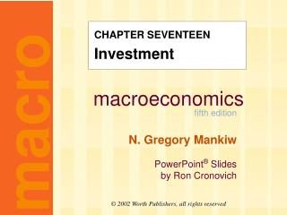 CHAPTER SEVENTEEN Investment