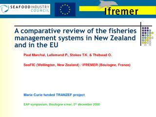 A comparative review of the fisheries management systems in New Zealand and in the EU