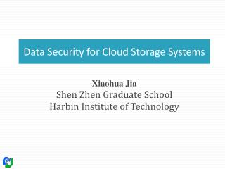 Data Security for Cloud Storage Systems