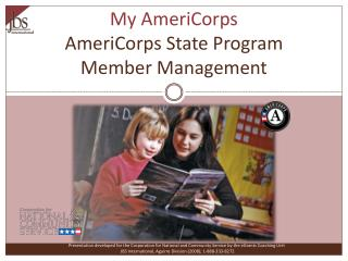 My AmeriCorps AmeriCorps State Program Member Management