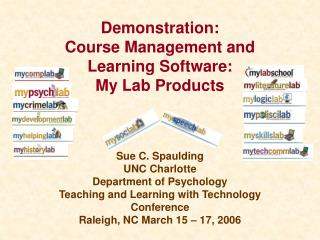 Demonstration: Course Management and Learning Software: My Lab Products