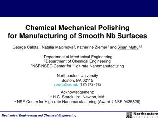 Chemical Mechanical Polishing  for Manufacturing of Smooth Nb Surfaces