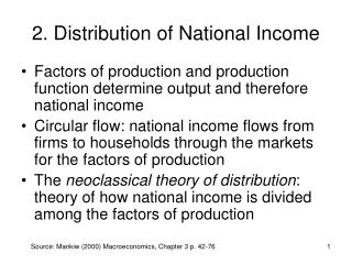 2. Distribution of National Income