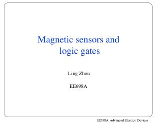 Magnetic sensors and  logic gates