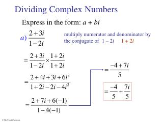 Dividing Complex Numbers