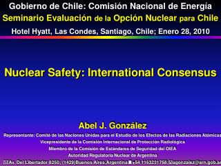 Nuclear Safety: International Consensus