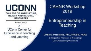 CAHNR Workshop 2019 Entrepreneurship in Teaching