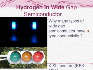 Hydrogen in Wide  Gap Semiconductor