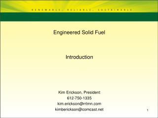 Engineered Solid Fuel