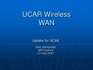 UCAR Wireless WAN