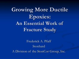 Growing More Ductile Epoxies: An Essential Work of Fracture Study