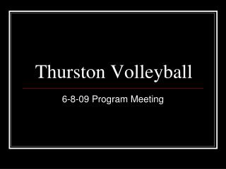 Thurston Volleyball