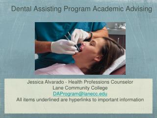 Dental Assisting Program Academic Advising