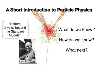 A Short Introduction to Particle Physics