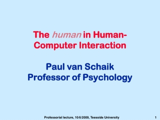 Lecture: Interaction Models and Evaluation