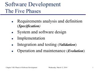 Software Development The Five Phases