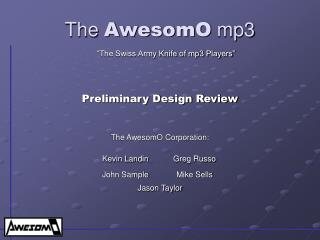 The AwesomO mp3