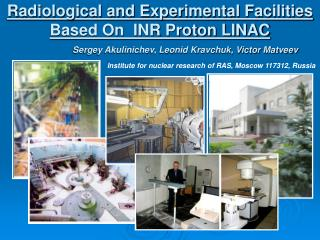 Radiological and Experimental Facilities Based On  INR Proton LINAC