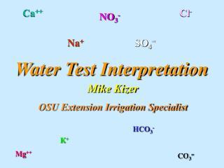Water Test Interpretation