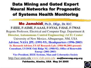Data Mining and Gated Expert Neural Networks for Prognostic of Systems Health Monitoring
