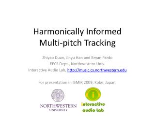 Harmonically Informed  Multi-pitch Tracking