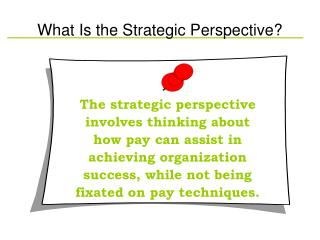 What Is the Strategic Perspective?