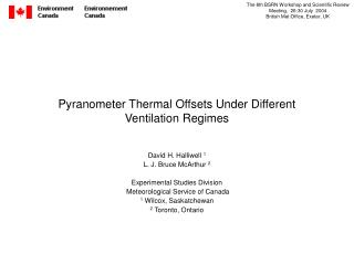 Pyranometer Thermal Offsets Under Different Ventilation Regimes