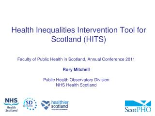 Health Inequalities Intervention Tool for Scotland (HITS)