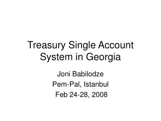 Treasury Single Account System in Georgia