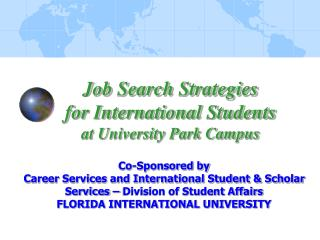 Job Search Strategies for International Students at University Park Campus