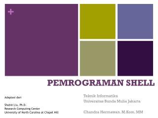 PEMROGRAMAN SHELL