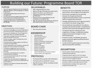 Building our Future: Programme Board TOR