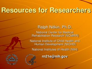 Resources for Researchers