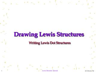 Drawing Lewis Structures Writing Lewis Dot Structures